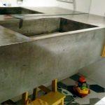 Blat betonowy w łazience